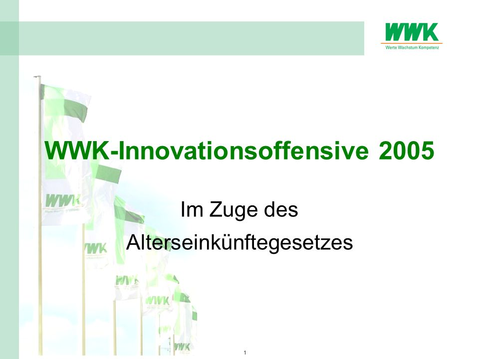 WWK-Innovationsoffensive 2005