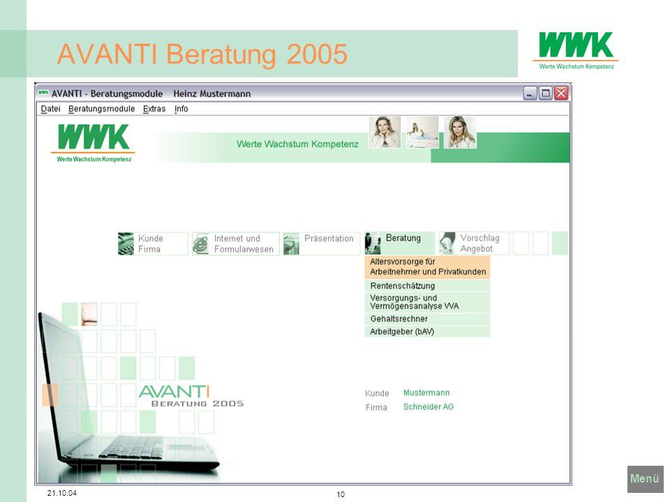 AVANTI Beratung 2005