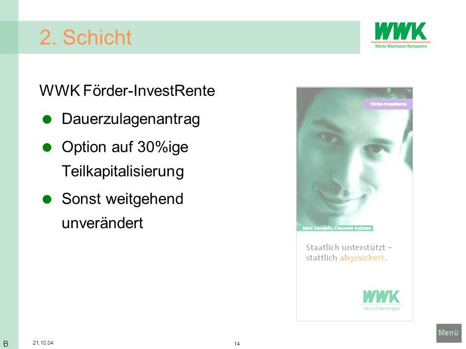 2. Schicht WWK Förder-InvestRente Dauerzulagenantrag