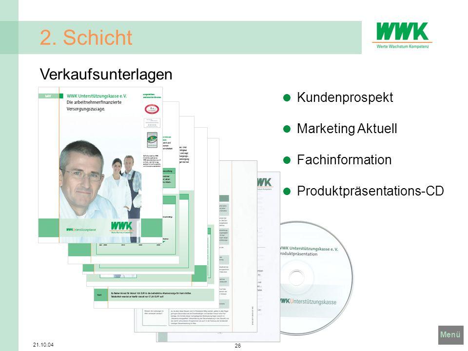 2. Schicht Verkaufsunterlagen Kundenprospekt Marketing Aktuell
