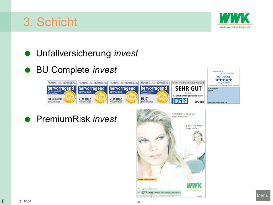 3. Schicht Unfallversicherung invest BU Complete invest