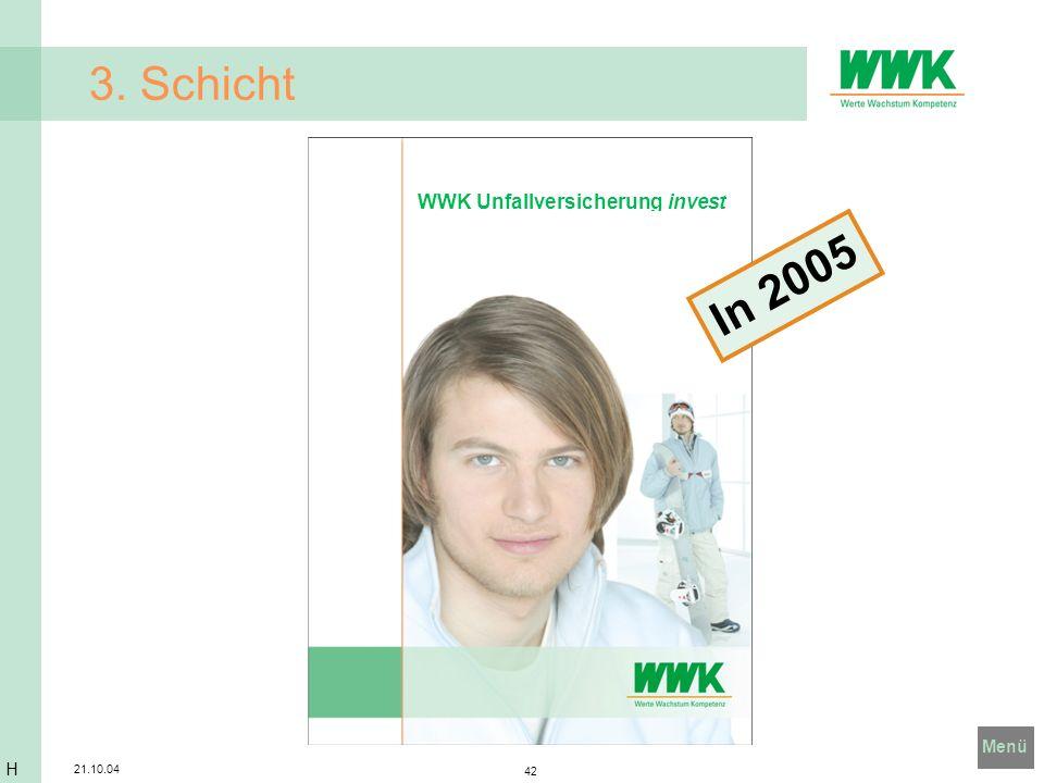 3. Schicht WWK Unfallversicherung invest In 2005 H