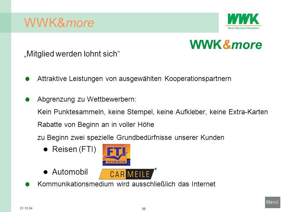 """WWK&more WWK&more """"Mitglied werden lohnt sich Reisen (FTI) Automobil"""