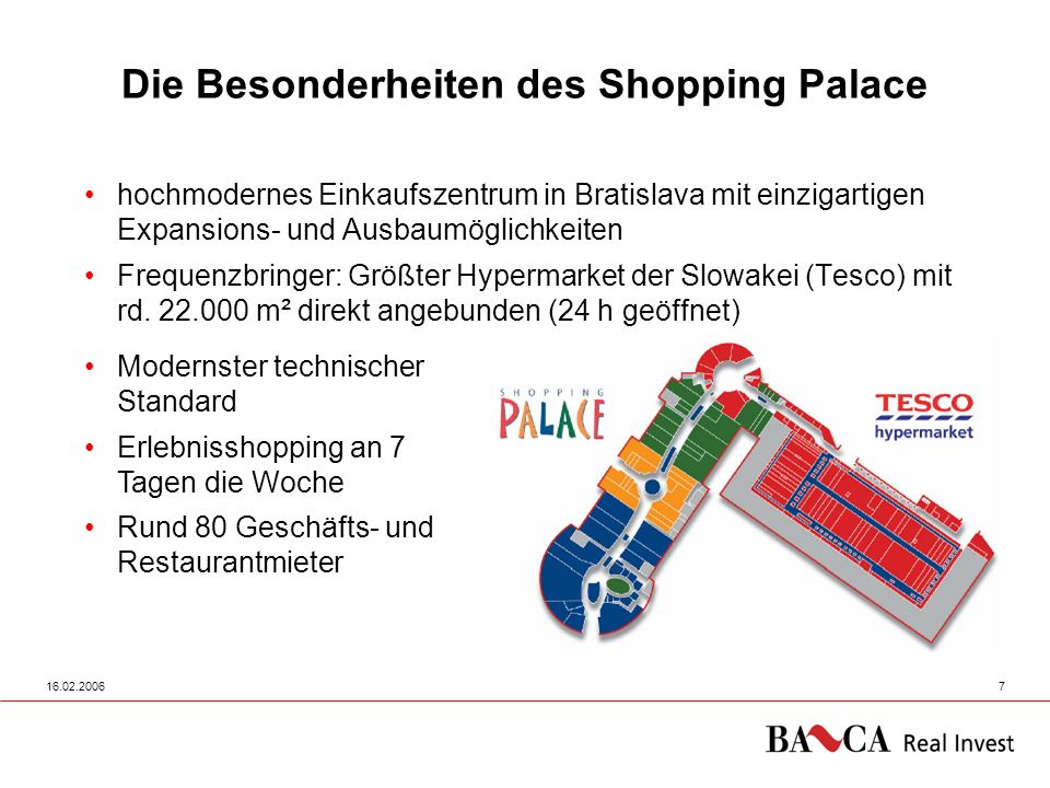 Die Besonderheiten des Shopping Palace