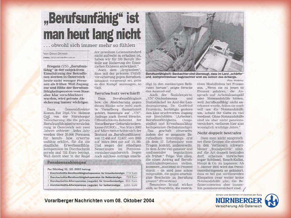 Vorarlberger Nachrichten vom 08. Oktober 2004