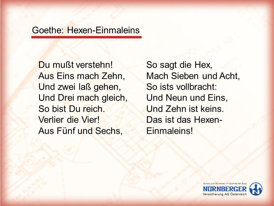 Goethe: Hexen-Einmaleins