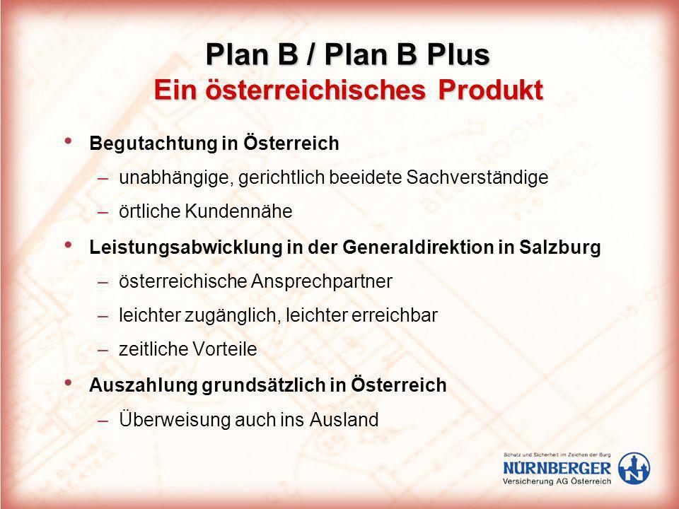 Plan B / Plan B Plus Ein österreichisches Produkt