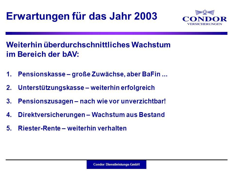 Erwartungen für das Jahr 2003