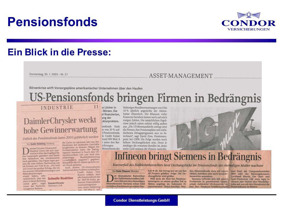 Pensionsfonds Ein Blick in die Presse: