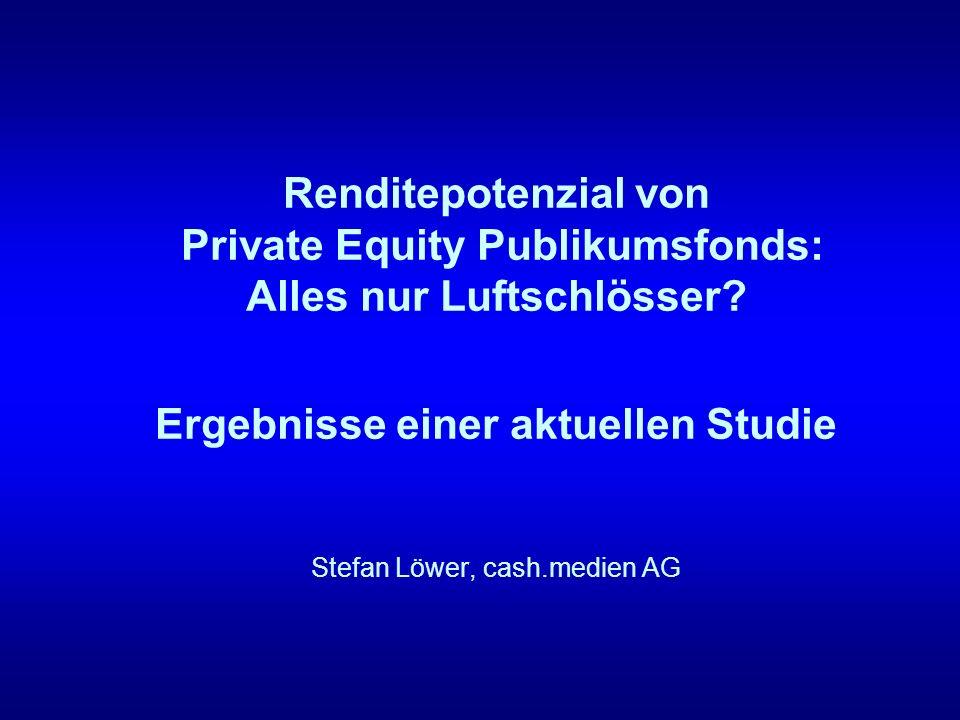 Renditepotenzial von Private Equity Publikumsfonds: Alles nur Luftschlösser.