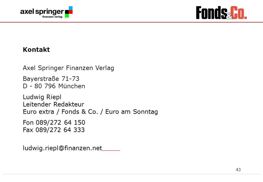KontaktAxel Springer Finanzen Verlag. Bayerstraße 71-73 D - 80 796 München.