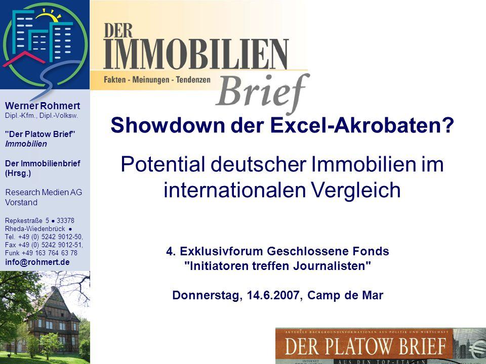 Showdown der Excel-Akrobaten