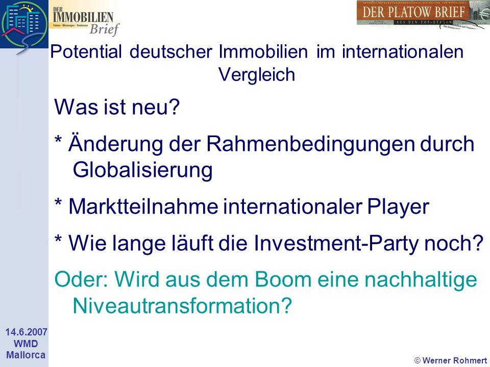 Potential deutscher Immobilien im internationalen Vergleich