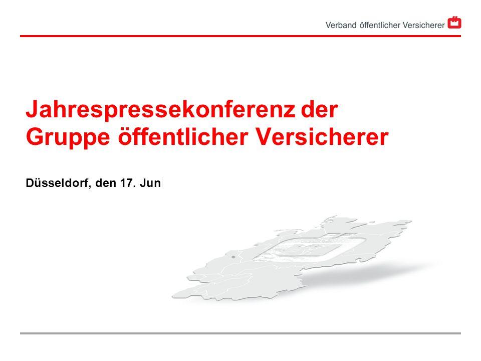 Jahrespressekonferenz der Gruppe öffentlicher Versicherer