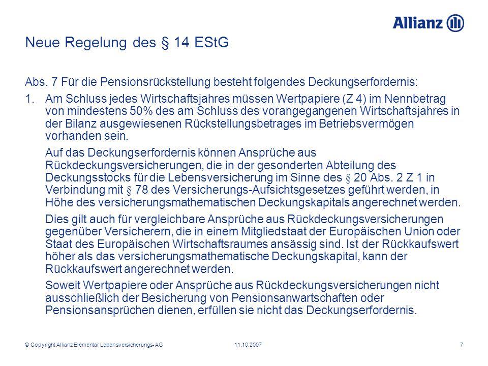 Neue Regelung des § 14 EStG
