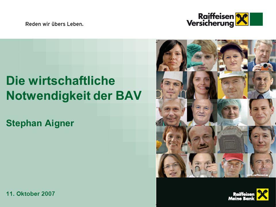 Die wirtschaftliche Notwendigkeit der BAV Stephan Aigner