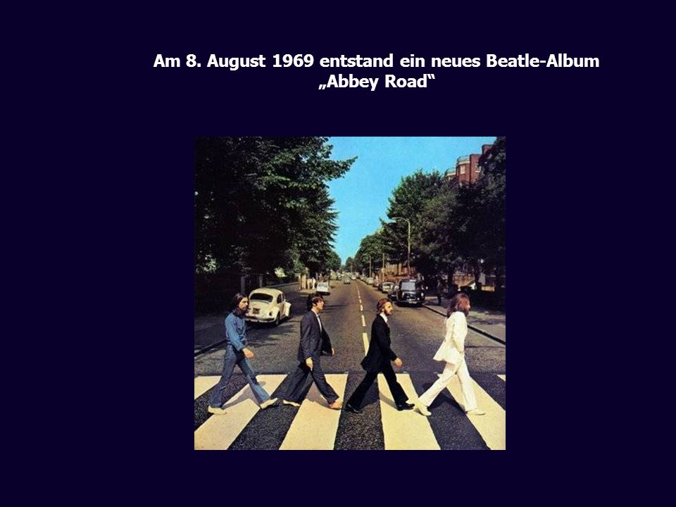 Am 8. August 1969 entstand ein neues Beatle-Album