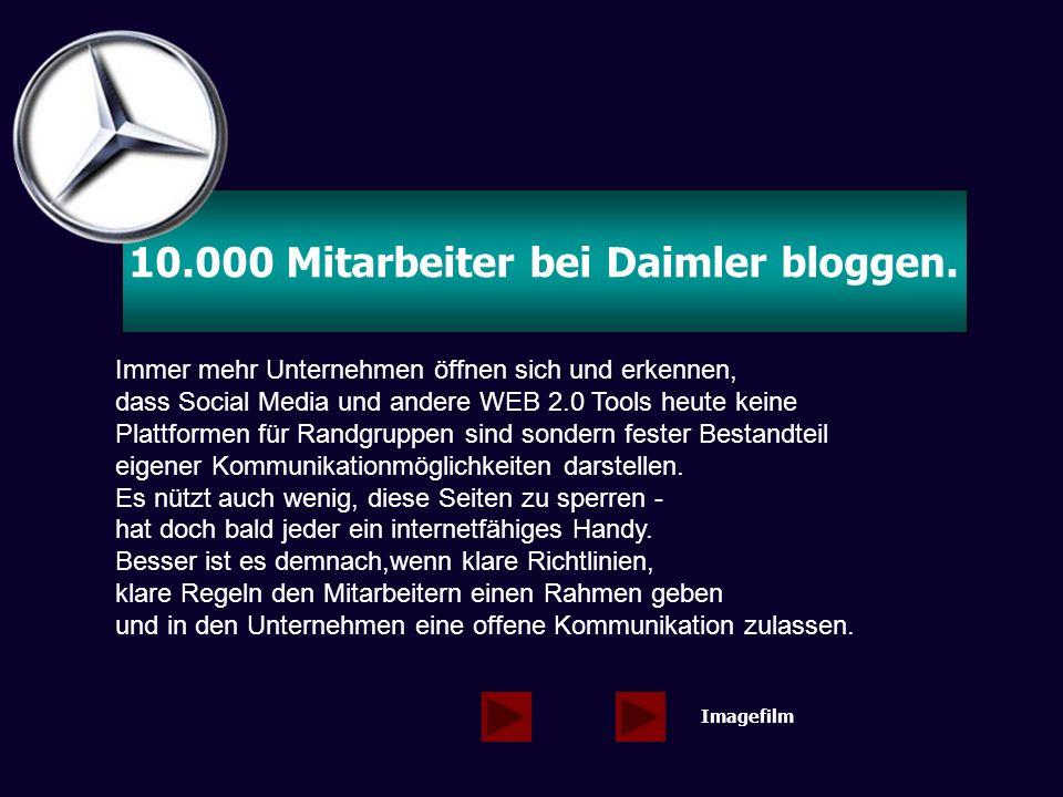 10.000 Mitarbeiter bei Daimler bloggen.