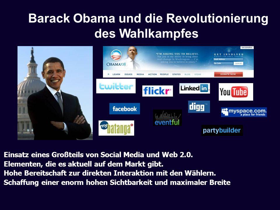 Barack Obama und die Revolutionierung des Wahlkampfes