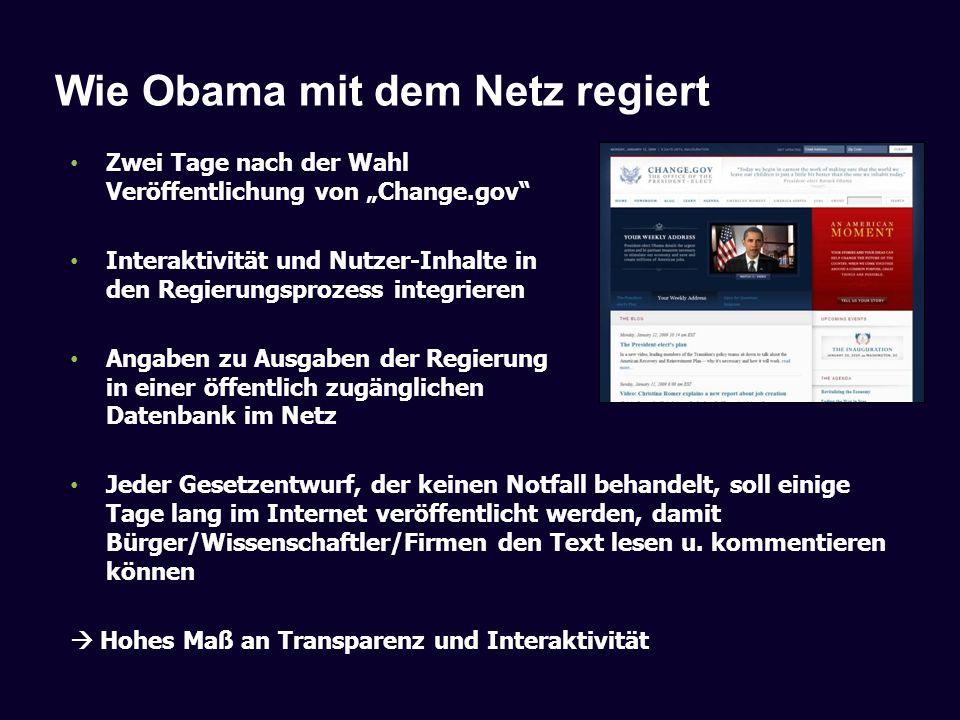 Wie Obama mit dem Netz regiert