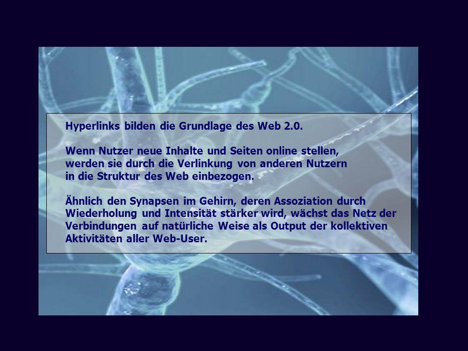 Hyperlinks bilden die Grundlage des Web 2.0.