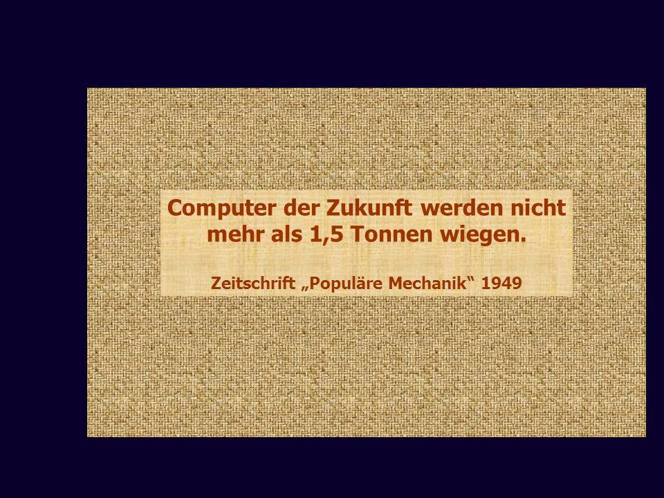 """Computer der Zukunft werden nicht Zeitschrift """"Populäre Mechanik 1949"""