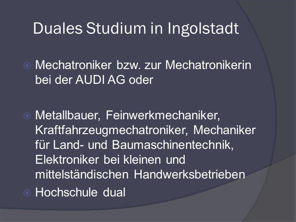 Duales Studium in Ingolstadt