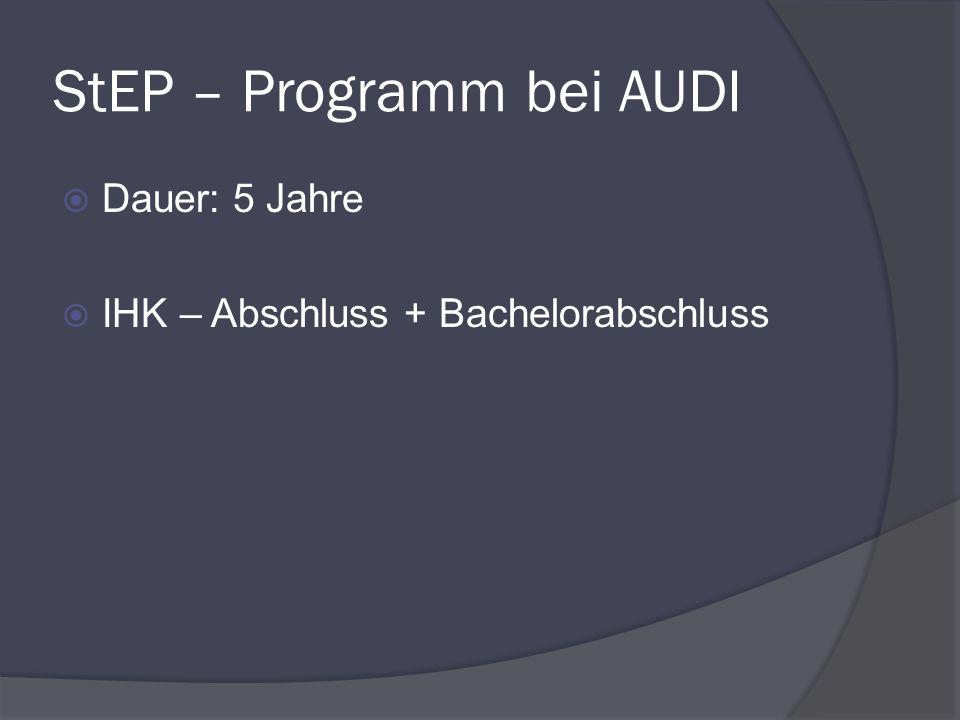 StEP – Programm bei AUDI