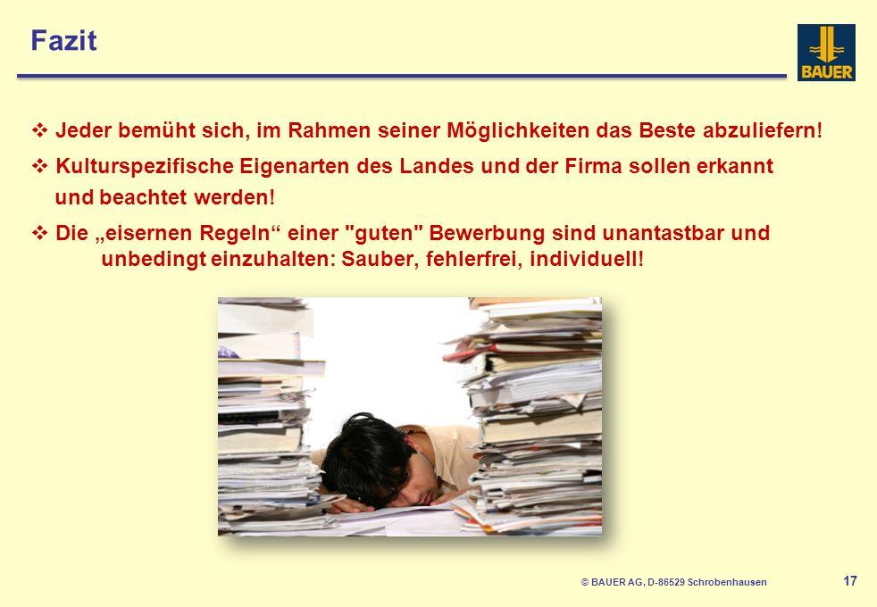 © BAUER AG, D-86529 Schrobenhausen