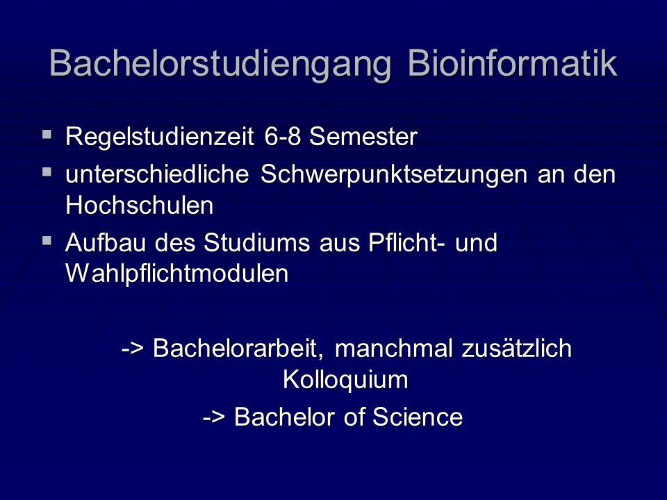 Bachelorstudiengang Bioinformatik