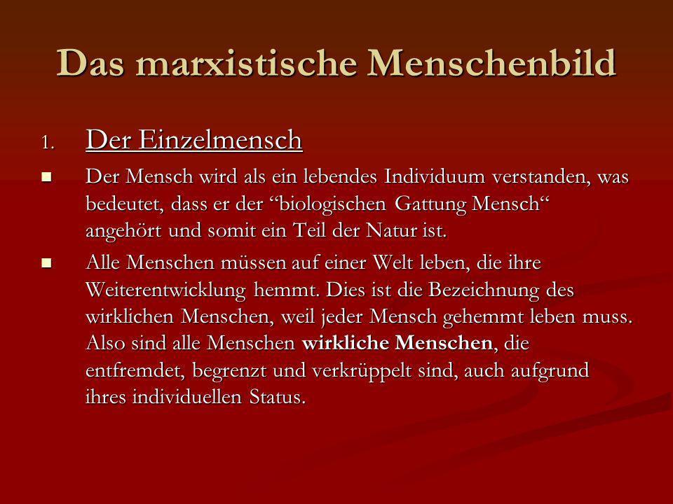 Das marxistische Menschenbild