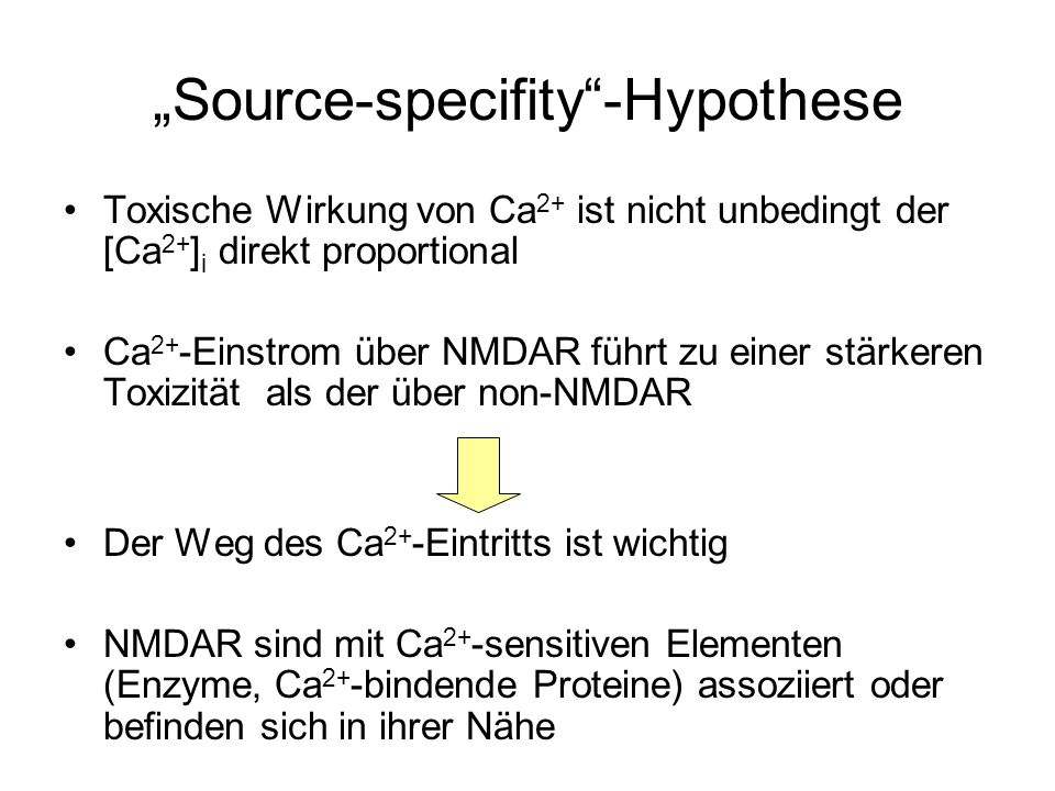 """Source-specifity -Hypothese"