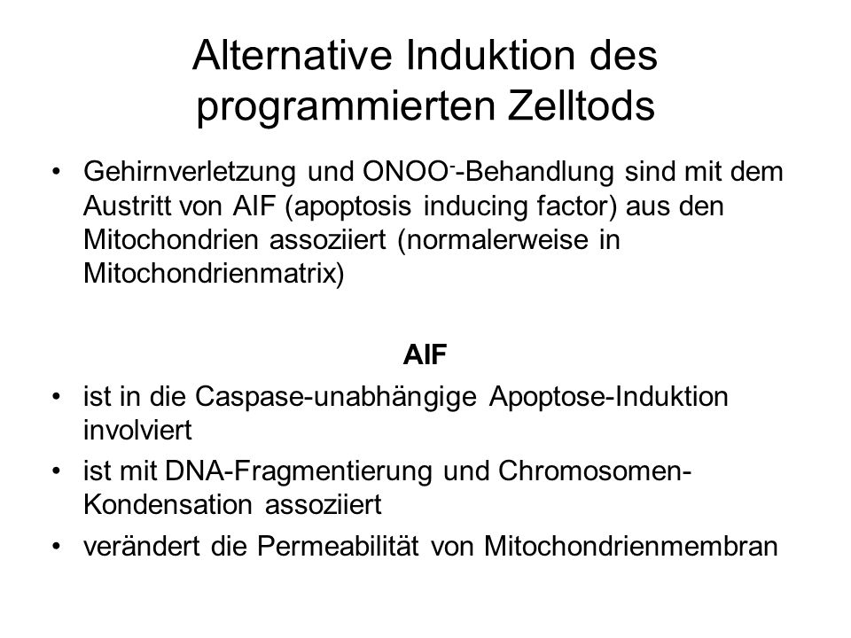 Alternative Induktion des programmierten Zelltods