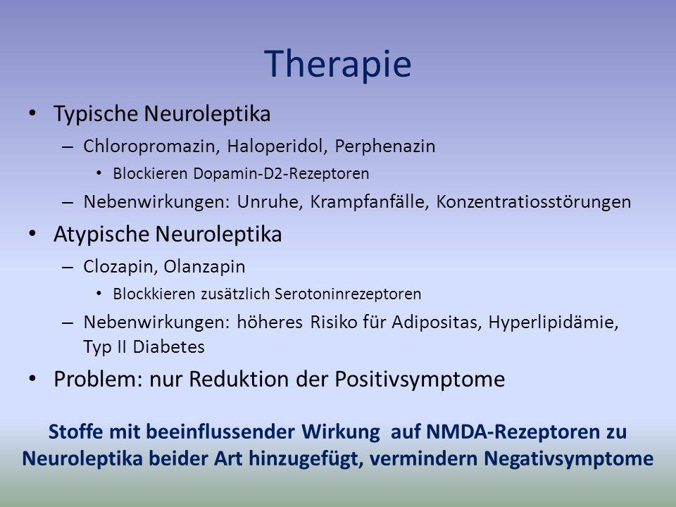 Therapie Typische Neuroleptika Atypische Neuroleptika