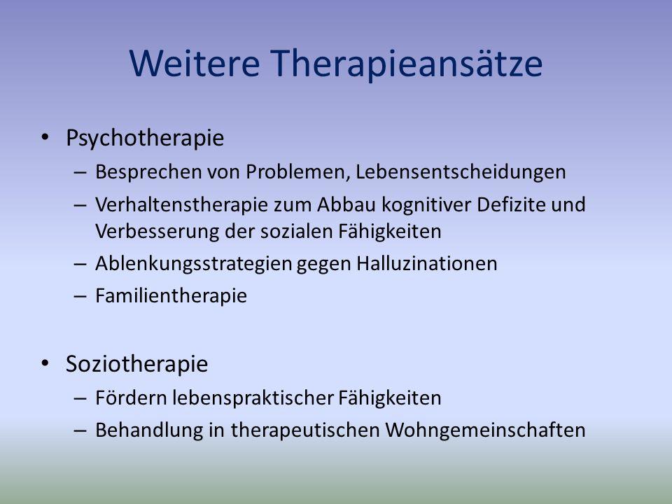 Weitere Therapieansätze
