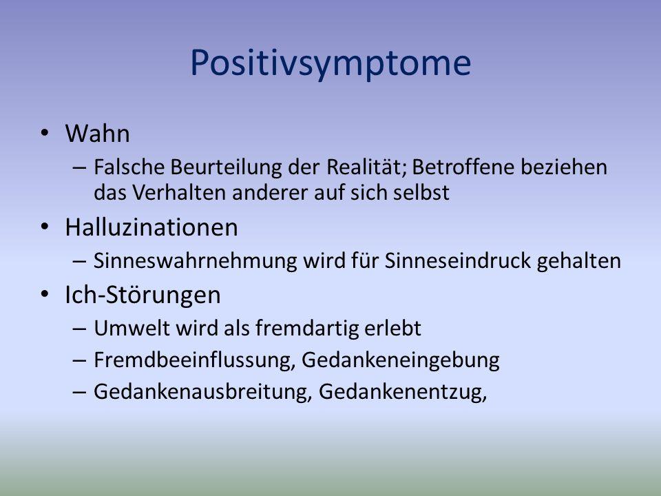 Positivsymptome Wahn Halluzinationen Ich-Störungen