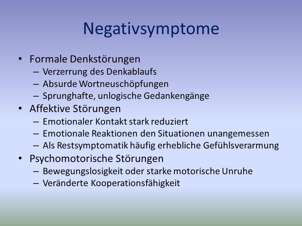 Negativsymptome Formale Denkstörungen Affektive Störungen