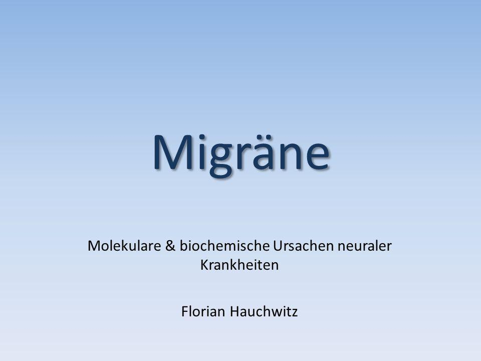 Molekulare & biochemische Ursachen neuraler Krankheiten