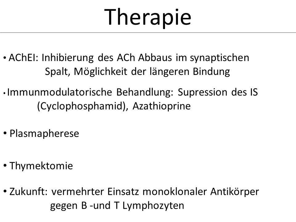 Therapie Spalt, Möglichkeit der längeren Bindung