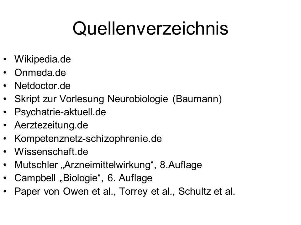 Quellenverzeichnis Wikipedia.de Onmeda.de Netdoctor.de