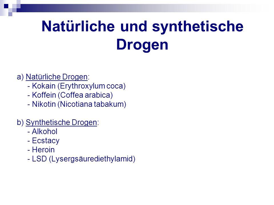 Natürliche und synthetische Drogen