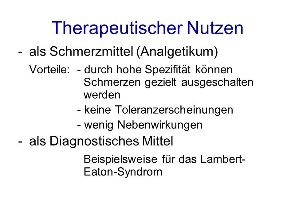 Therapeutischer Nutzen