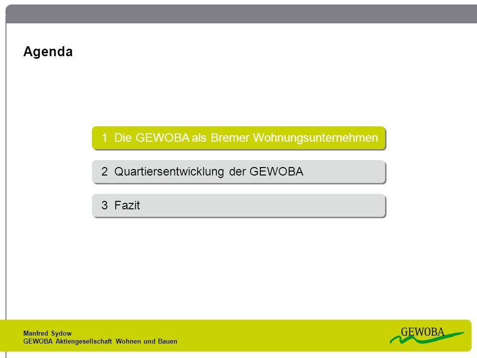 Agenda 1 Die GEWOBA als Bremer Wohnungsunternehmen