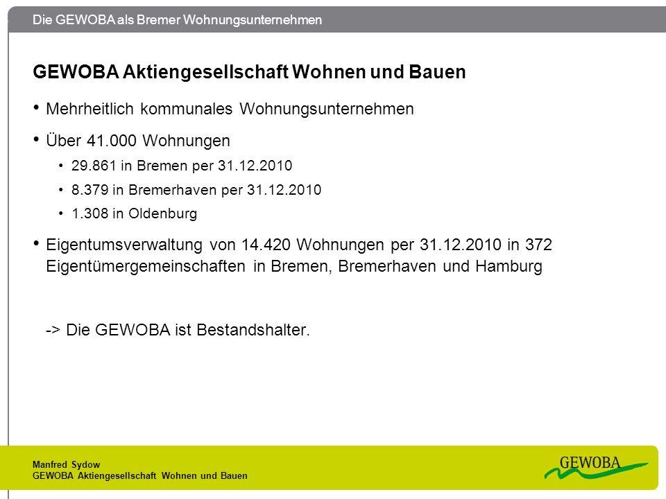 GEWOBA Aktiengesellschaft Wohnen und Bauen