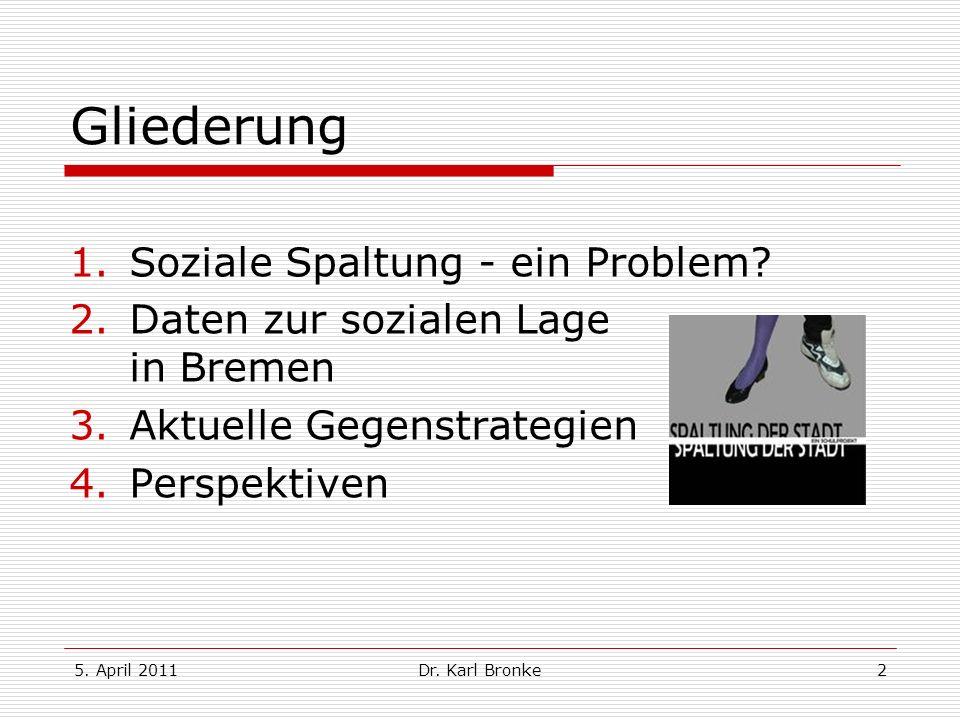 Gliederung Soziale Spaltung - ein Problem