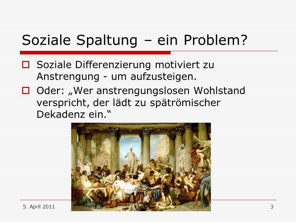 Soziale Spaltung – ein Problem