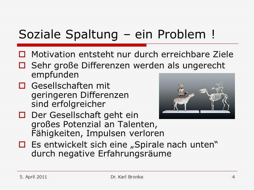 Soziale Spaltung – ein Problem !