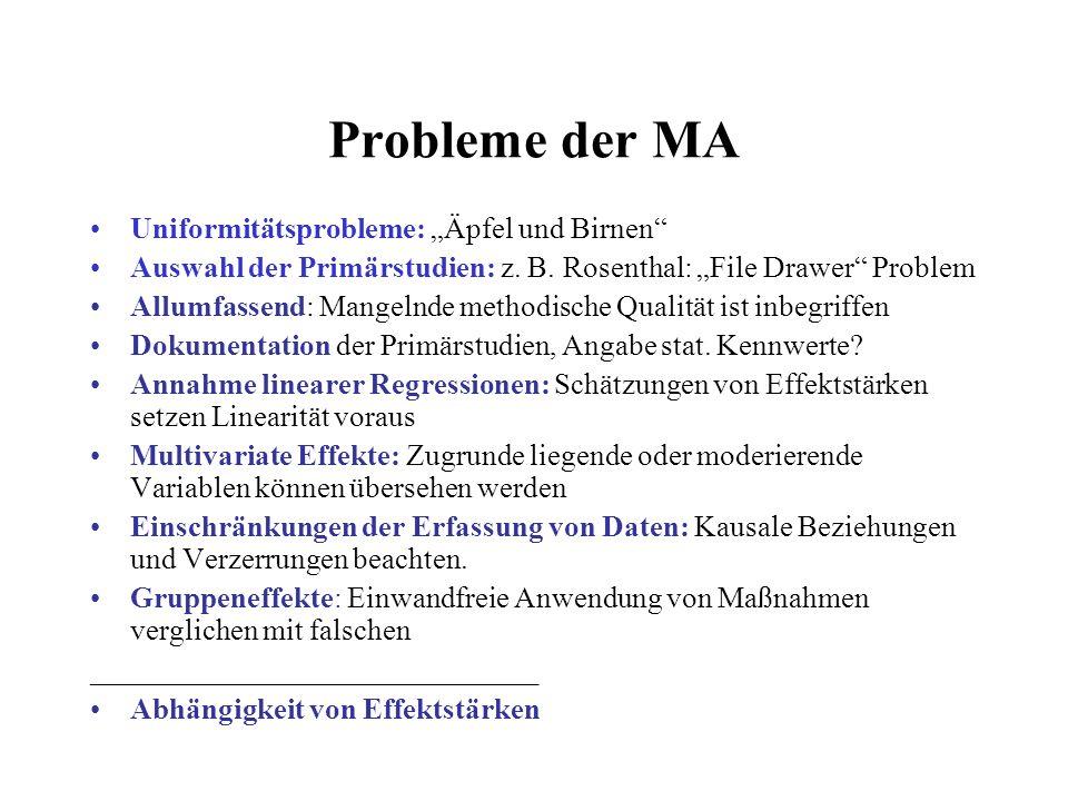 """Probleme der MA Uniformitätsprobleme: """"Äpfel und Birnen"""