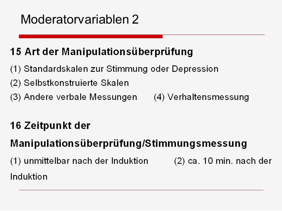 Moderatorvariablen 2