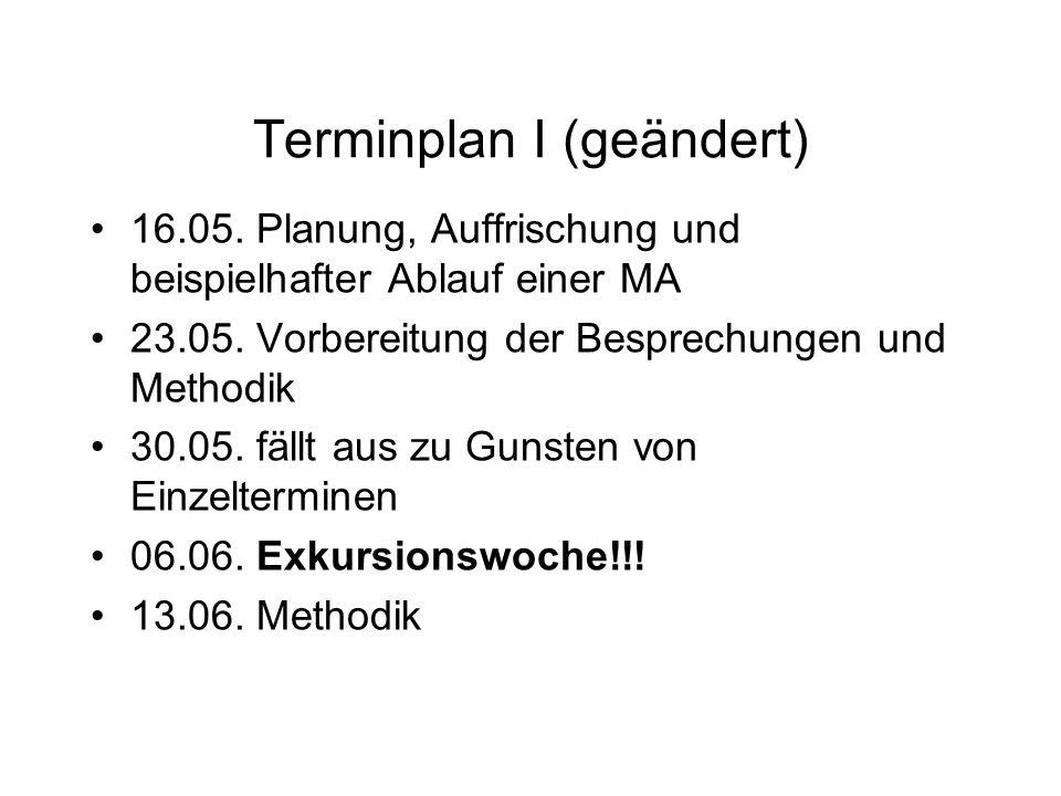 Terminplan I (geändert)